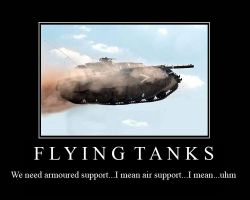 Flying Tank2 Motivation Poster by FireOps