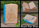 Recycled Paper Dragon by crocodiledreams