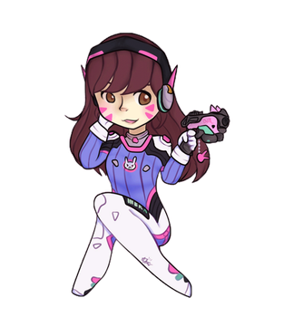 D.Va by Astral-Dragoness