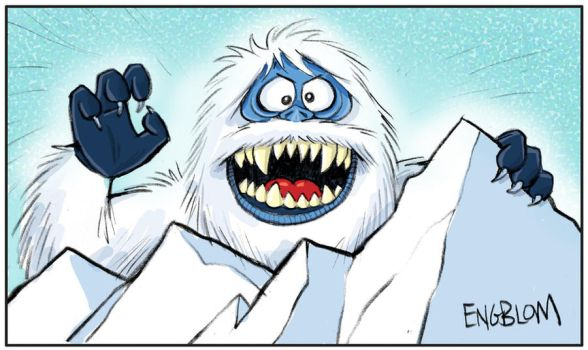 abominable snowman bumbles coloring pages - photo#34