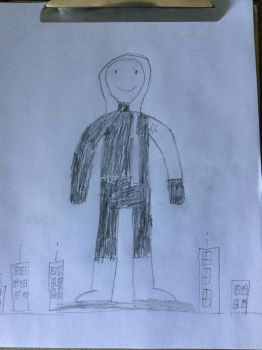 Giant Winter Sholdier (Bucky Barnes) in a City. by furstman