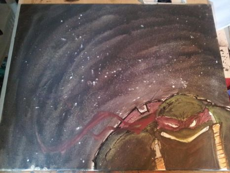 Mikey Canvas piece 24x30 (prt 3) by phour-nyne-guy