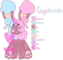 Gingerbread the monster bunny | nametrade by renonoo
