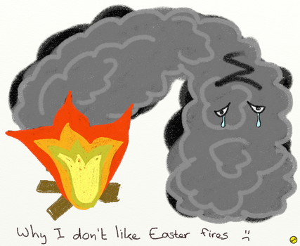 Why I don't like Easter fires. :( by Trinsec