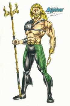 Aquaman (tribal) by kiborgalexic