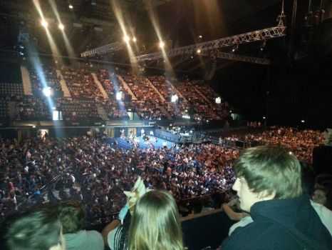 My view of the crowd from LCS EU at Wembley Arena by Eaglelives