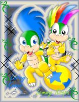 Larry and Lemmy Koopa by Bowser2Queen