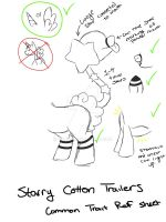 Starry Cotton Trailers Common Ref Sheet. by Pomihei