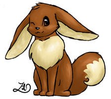 Eevee (relaxing paint practice) by myheartyoung