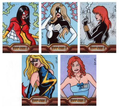 Iron Man 2 Sketch Cards 1 by ElainePerna