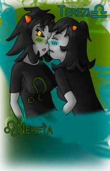 Nepeta vs. Terezi by Omegajimb