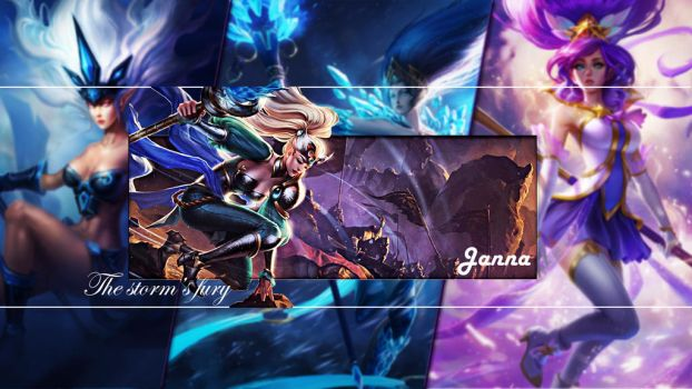 My first wallaper with Janna - League of legends by deyush08