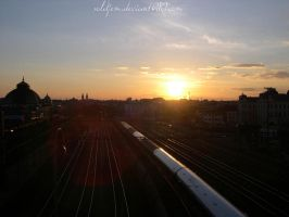 railroad sunset2 by soldjem