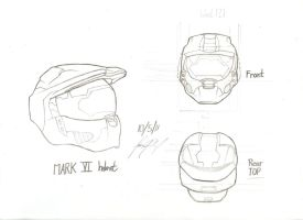 Reference of Master Chief's Helmet by Nics-MP