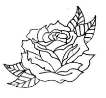 Neo Traditional Rose Outline 2 by vikingtattoo on DeviantArt
