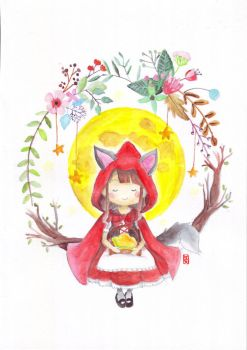 Red Riding Hood who happened to be the wolf itself by ikkittebayo