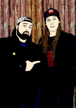 Jay and silent Bob up by dankensei