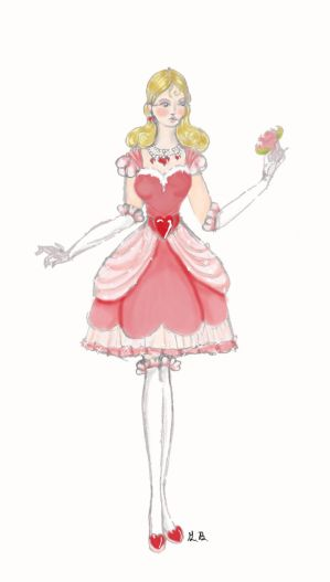 Valentines Heart dress by Pearllight180