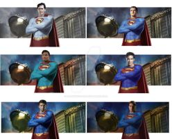 Superman through the Ages by DarthSinister