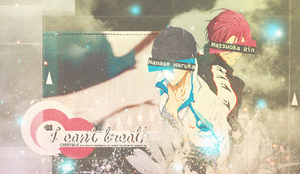 I can't breath - Rin x Haru by ConnyAle