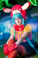 Miku Hatsune~ Vocaloid  * Lots Of Laugh- Bunny * by SHIcosplay