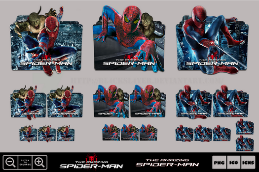 The Amazing Spider-Man (2012) Folder Icon Pack by Bl4CKSL4YER