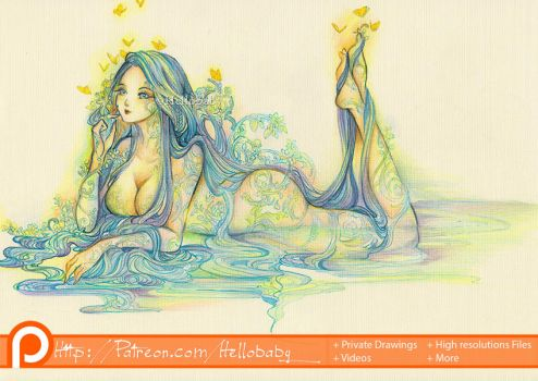 Sexy Water Lady by Hellobaby