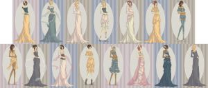 Mucha Disney Princesses by foreverbeginstoday