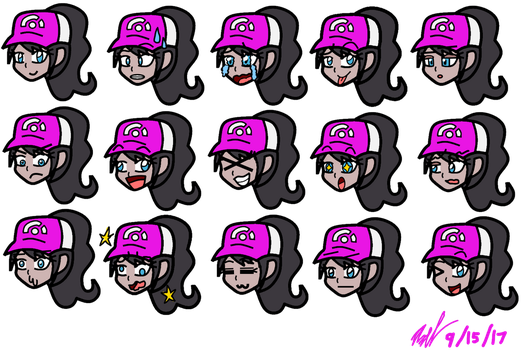 Raindrops the Pokempon Trainer: Emoticons by AxelDK64