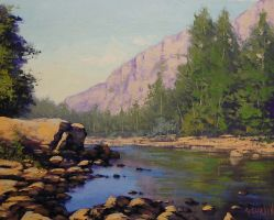 Colorado River Painting by artsaus