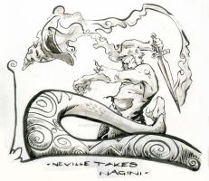 Neville takes Nagini by i-am-mighty