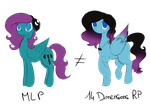 [Dig] Two ponies, two worlds by hylidia