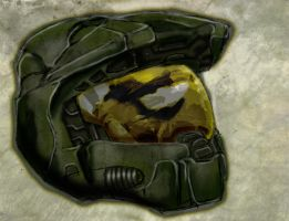 Master Chief Helmet by MacabreHeretic