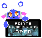 PC - Lapis Points Commissions Open Stamp by Ink-cartoon