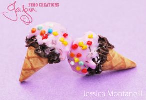 Chocolate Ice Cream - Studs by Jeyam-PClay