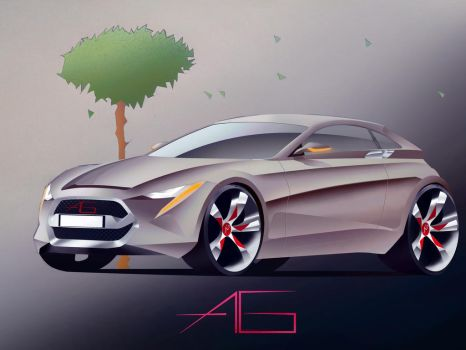 Car sketch 032 PS by Bazooka-to-your-head