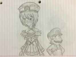 Mario and Blanc Sketch by SuperMLbros