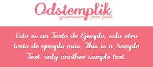 Odstemplik Free Font by YourSource