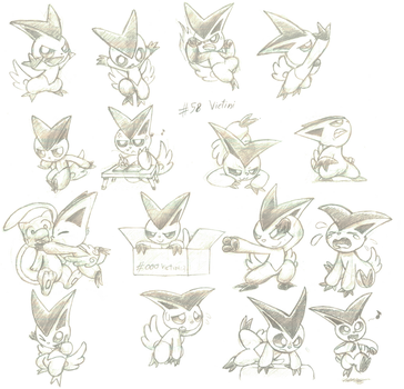 Day 58 : Victini by The-BlackToteM