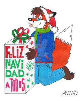Happy Christmas to all! by AnthoFur