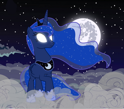 Luna's night walk by MintyScratch