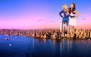 The Goddesses Jennette and Ariana take over a city by misterwerder
