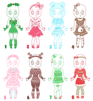 Seasonal Outfit Adopts || 3/8 OPEN by CuteWish