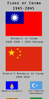 Flags of China: 1945-2045 by YNot1989