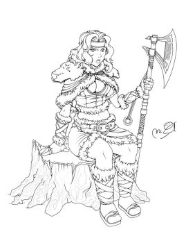 Barbarian Champion Lineart by MCsaad