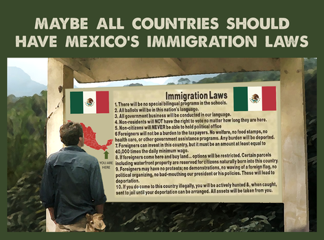 All Countries Should Have Mexico Immigration Laws by CaciqueCaribe