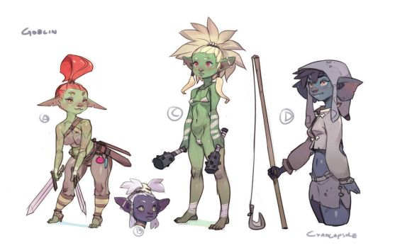 Goblin concepts for Sexena by CyanCapsule