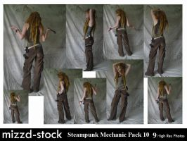 Steampunk Mechanic Pack 10 by mizzd-stock