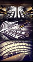 Canary Wharf Station by xsekox