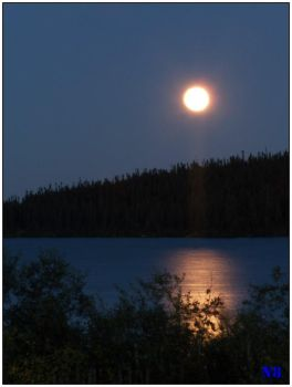 Fall Moon in Labrador by N8tureboy